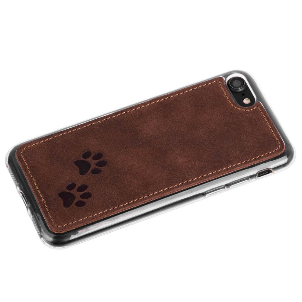 Back case - Nubuk Nut brown - Two paws