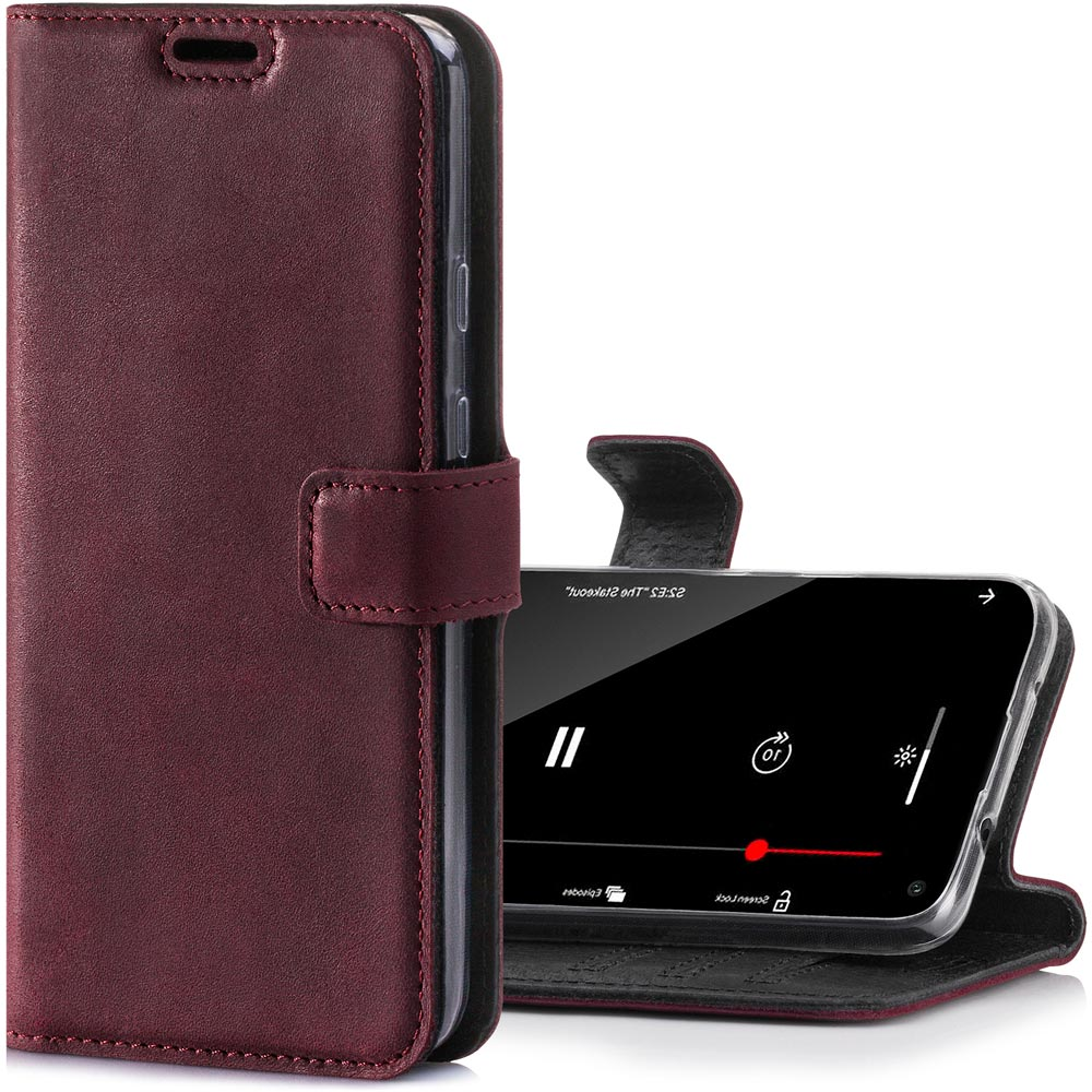 RFID Wallet case - Nubuck Burgundy