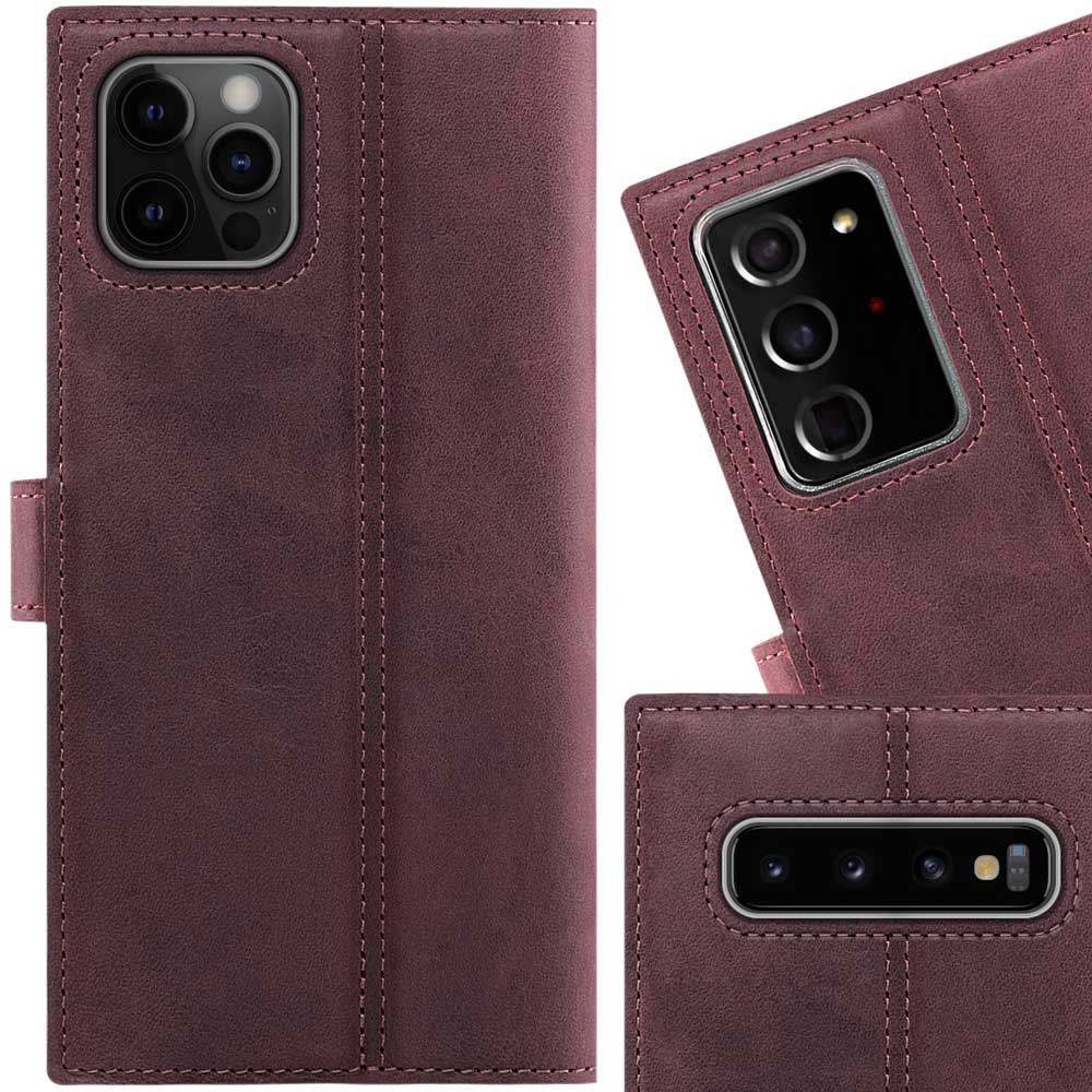 RFID Wallet case - Nubuck Burgundy