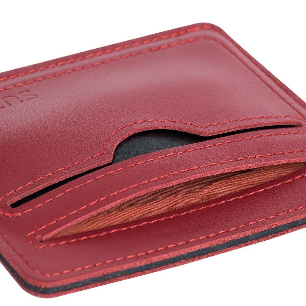 Slim Card Wallet - Red