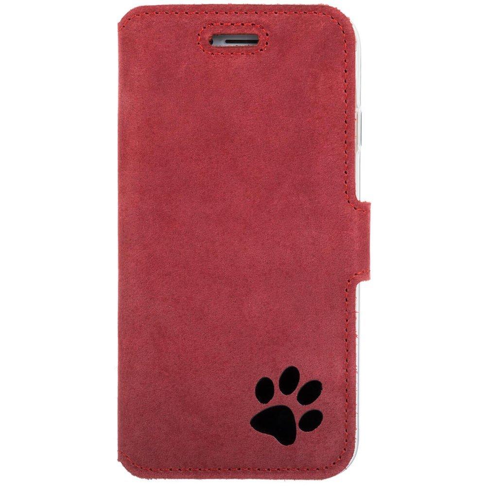 Slim cover - Nubuck Red - Black Paw