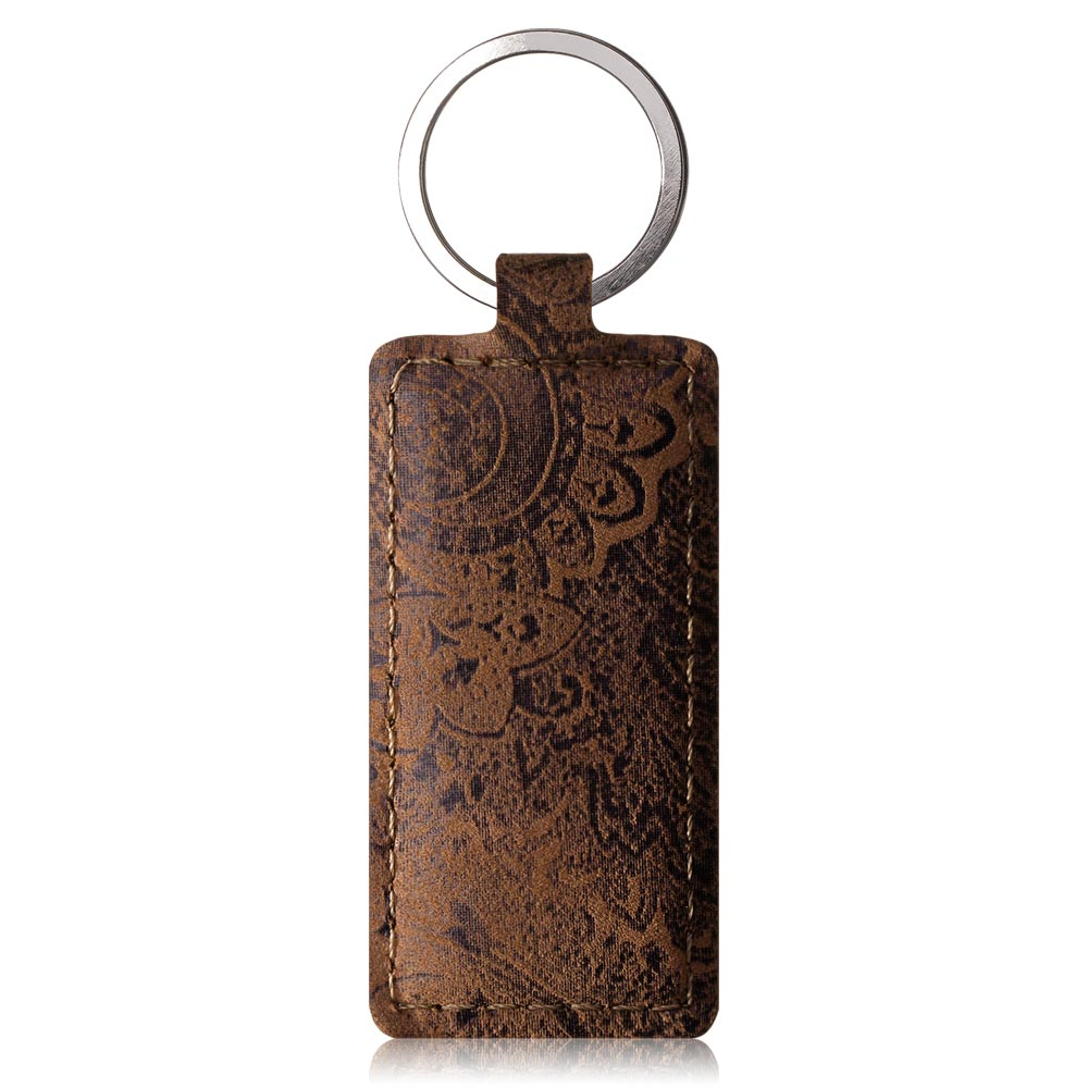 Wallet case - Ornament Brown