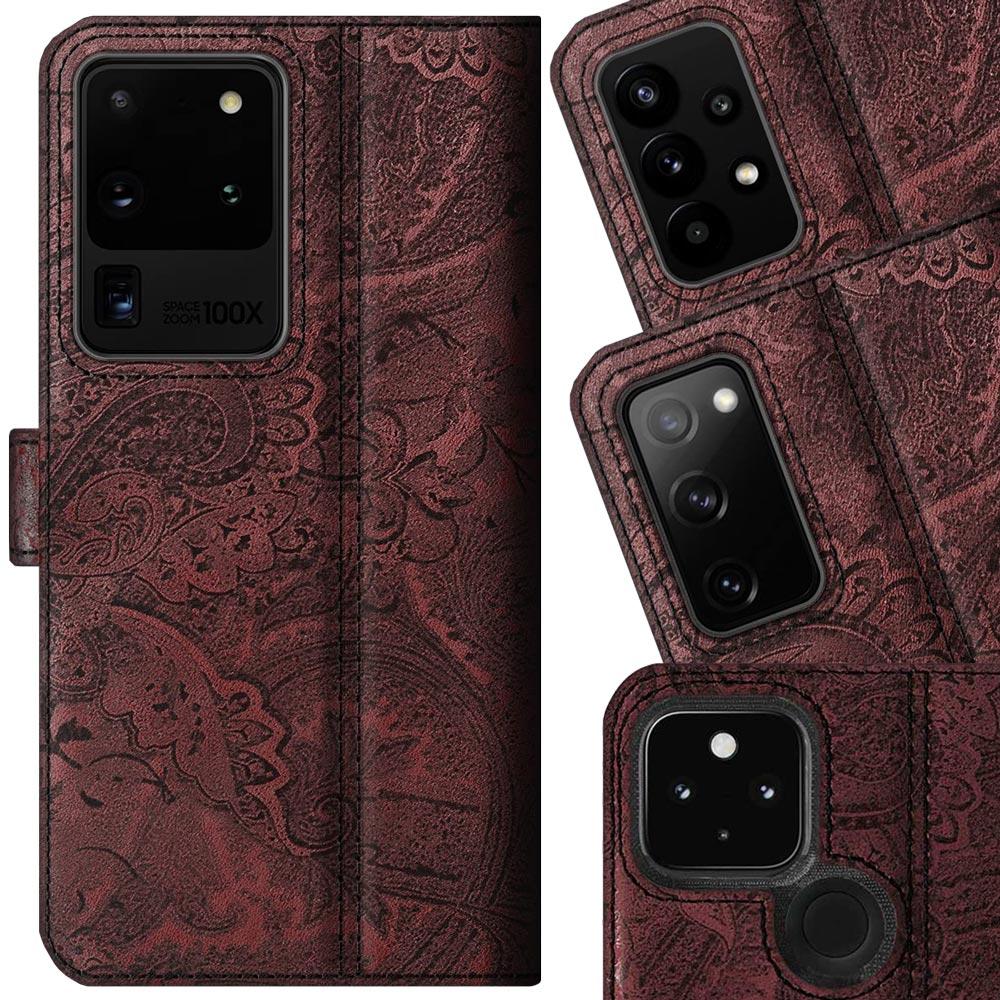Wallet case - Ornament Burgund