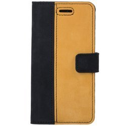 Wallet case - Nubuck Black and Camel