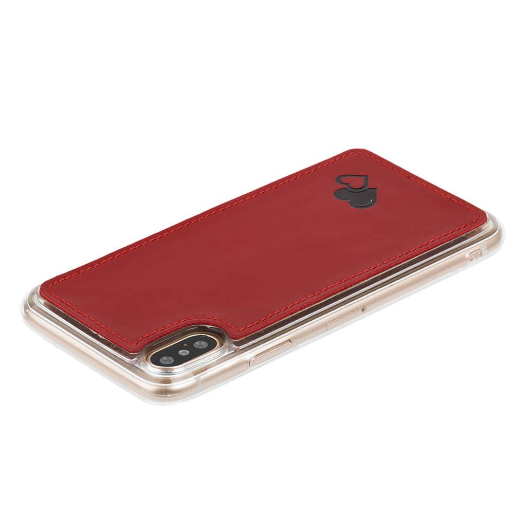 Back case - Costa Rot - Schwarz Herzen