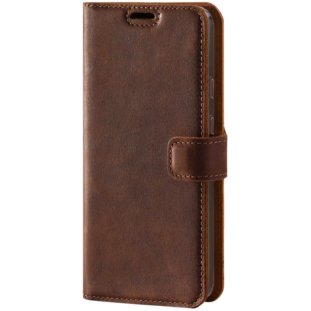 Wallet case - Nubuk Nussbraun