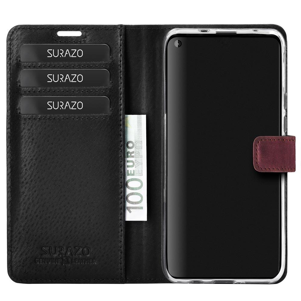 Wallet case - Nubuk Burgund - Dwie Łapy Czarne