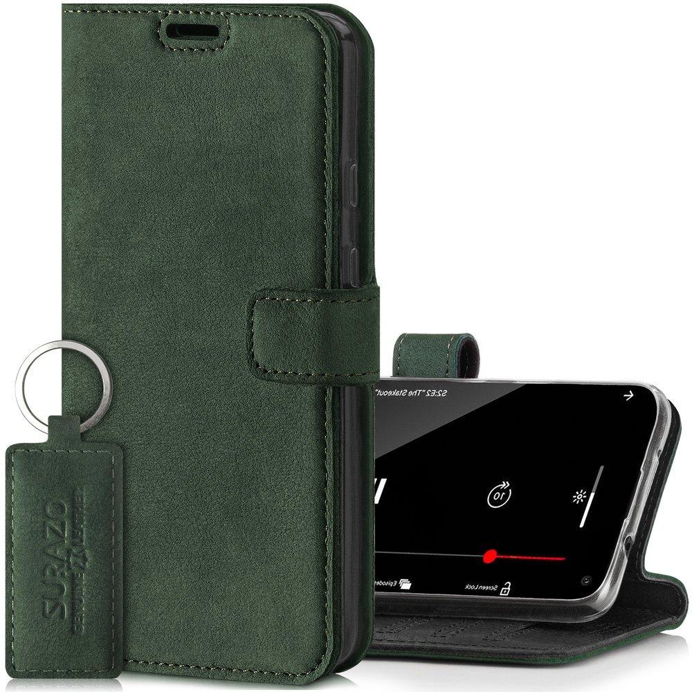 Wallet case - Nubuk Ciemny Zielony