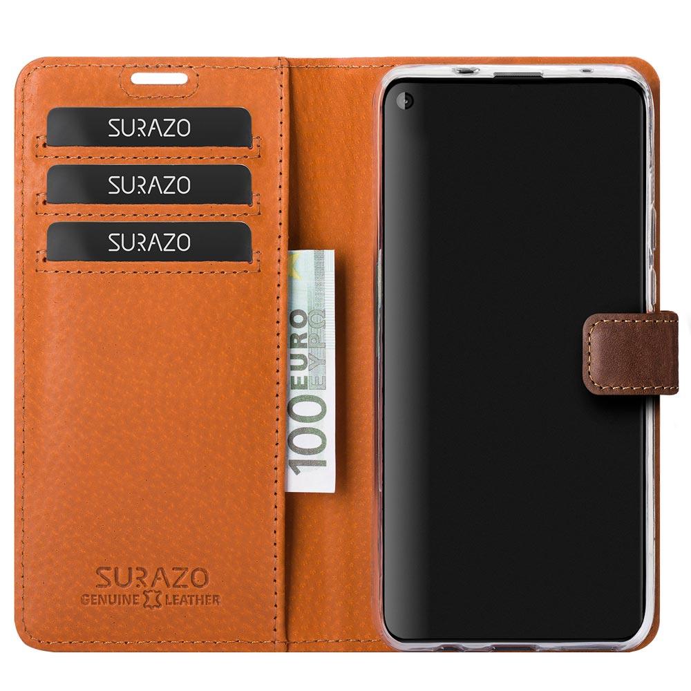 Wallet case - Nubuk Orzechowy