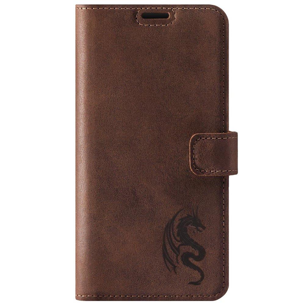 Wallet case - Nubuk Orzechowy - Smok